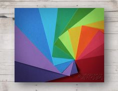 Rainbow Spiral of Colored Paper - Photograph - 8 x 10. $10.00, via Etsy.