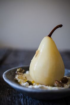 labneh pistachio | Poached Pears w / Labneh & Candied Pistachios | Nothing But Delicious