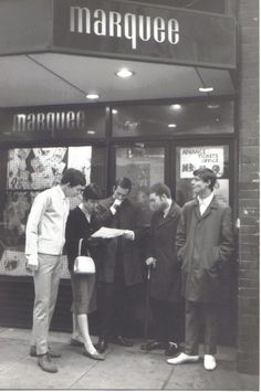 Mods outside the Marquee Club. Photo by Paul Hallam.