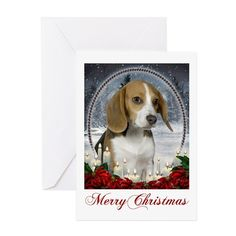 Christmas Beagle Card on CafePress.com