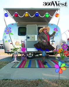 Sisters on the Fly: hand painted trailers, tutus, vintage jewelry, 360 West Magazine, October 2013