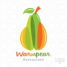 Logo Design Warmpear: A Pear with warm and fresh colors effect!