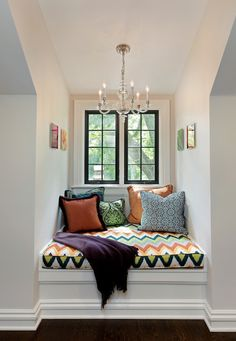 This Window Bench Is Nestled Into A Dormer The