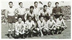 Juncosa, Ben Barek, Pérez Payá, Carlsson y Escudero formaron la Delantera de Cristal que tiene el récord de goles por partido -2'9- de la historia del Atlético de Madrid.