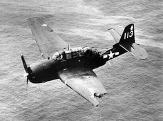 """flytofight:  Grumman TBM Avenger missing 1/3 of its wing after taking fire over Chichi Jima. In the book """"Flyboys"""" by James Bradley, the U.S Navy bombing raids on Chichi Jima were covered extensively. In the photo above, Lt. Bob Kings avenger was hit by anti aircraft fire. Losing control of his aircraft, he ordered his crew to bail out, while he was attempting to bail out himself, the aircraft righted itself and control was gained back. The crew members were never recovered and Lt. King…"""