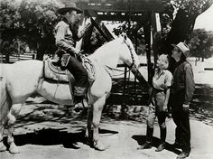 John Wayne, Cecilia Parker, and George ''Gabby'' Hayes in ''Riders of Destiny''  1934