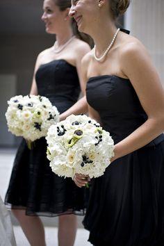 black + white bridesmaids   Alyse French #wedding