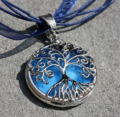 Stained glass tree of life necklace