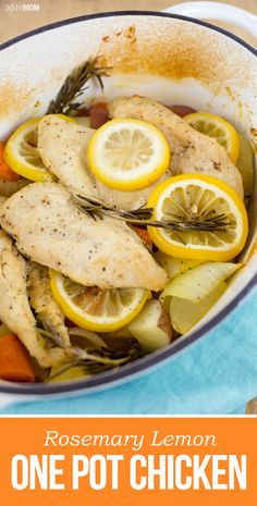 Rosemary Lemon One Pot Chicken: This one will be a family favorite!