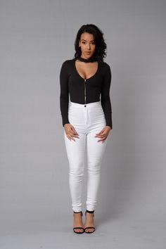 Addicted Bodysuit - Black