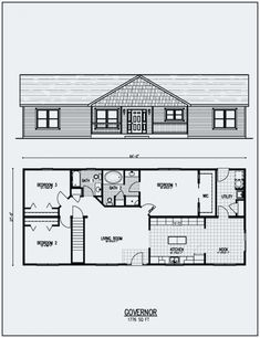 Ranch Floor Plans with Walkout Basement . Ranch Floor Plans with Walkout Basement . 3 Bedroom Floor Plans with Basement – Ndorub Small Cottage House Plans, Southern House Plans, Ranch House Plans, Shop House Plans, Craftsman House Plans, New House Plans, House Floor Plans, Craftsman Ranch, Craftsman Style