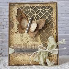cards made using tim holtz mixed media dies Paper Cards, Diy Cards, Timmy Time, Mixed Media Cards, Karten Diy, Shabby Chic Cards, Beautiful Handmade Cards, Butterfly Cards, Card Tags