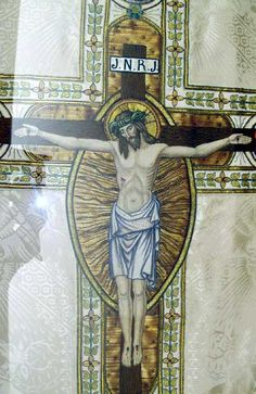 1800-1953 Crucifixion Chasuble at the Benedictine Convent in Clyde, Missouri.