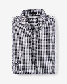 modern fit small check performance shirt
