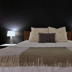 AFTER HOURS, soft charcoal black paint color by Backdrop. Best Bedroom Paint Colors, Canvas Drop Cloths, After Hours, Interior Walls, Exterior Paint, Charcoal Black, Home Decor, Decoration Home, Room Decor