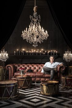 """British furniture designer Timothy Oulton credits mastering the art of """"humble luxury"""" as the key to his success. Cigar Lounge Decor, Cigar Lounge Man Cave, Zigarren Lounges, Whiskey Room, Interior Styling, Interior Design, Cigar Bar, Cigar Room, Pub Set"""