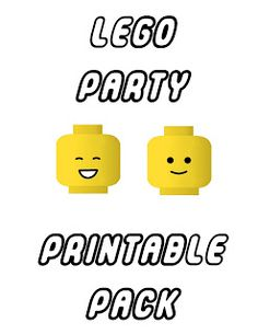 Aussie Pumpkin Patch: Lego Party Printables - straw topper, raisin box cover, bubbles cover, invites, coloring book