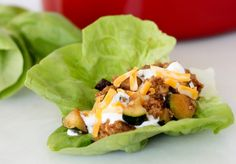 These low-carb lettuce wraps are ready in under 20 minutes!  #gluten-free #myfitnesspal
