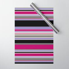 Complex Stripes Pink & Purple Wrapping Paper by laec Double Stick Tape, Pink Purple, Wraps, Gift Wrapping, Stripes, Paper, Gifts, Gift Wrapping Paper, Presents