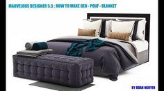 Marvelousdesigner 5.5 : How to make BED - POUF - BLANKET part 1