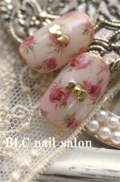 水彩ミニローズの画像 | 新潟市中央区万代ネイルサロン~BLC nail salon