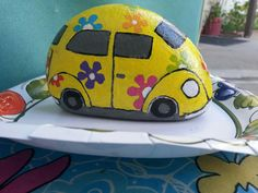 VW painted rock!