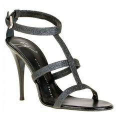 Giuseppe Zanotti Glitter black sandal