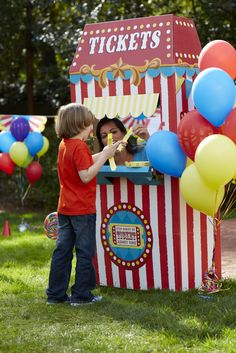 Tickets to fun at the Carnival Party! #carnivalparty #BirthdayExpress