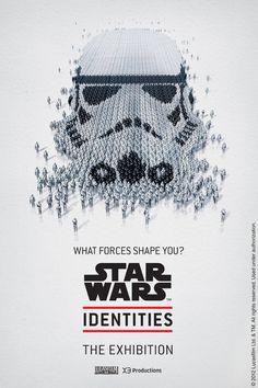 コンセプト:Portrait 4月からカナダ・モントリオールで開催される、映画スター・ウォーズの展覧会「Star Wars Identities」の告知ポスター。  ダース・ベイダーやヨーダとい
