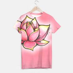 Lotus  T-shirt  Today Claire submit to you a lotus flower on her Live Heroes items. Enter and choose what you want. Share, share, share me wink emoticon https://liveheroes.com/en/product/show/216039 #tshirt #liveheroes #pink #unisex #brand #claire #piece #flower #lotus