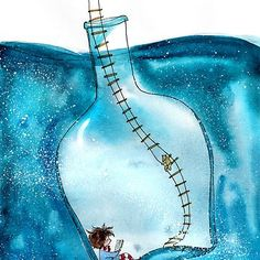 Illustration by Manka Kasha Children's Book Illustration, Watercolor Illustration, Watercolor Art, Whimsical Art, Cute Drawings, Cute Art, Art Inspo, Art Sketches, Painting & Drawing