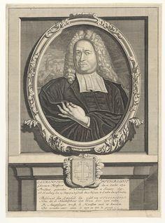 Portret van Laurentius Steversloot (1672-1736), predikant te Kudelstaart, Hamburg, Gouda en Leiden - Geheugen van Nederland Gouda, Vintage World Maps, Leiden, Hamburg