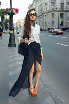 The high-low skirt is very in!  Follow us on #facebook: http://www.facebook.com/MODEBayArea