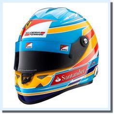 Got 2nd place! in British GP 2012  Fernando Alonso F1 Ferrari Champion Formula One Racing Helmet Japan Rare Limited #f1