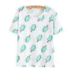 Fashion 2016 Women Summer Casual Harajuku Short T-Shirt Cartoon Animal Print Basic Tops Batwing Sleeve Tee Shirts