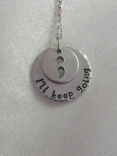 Semi Colon Jewelry  Semicolon Necklace  by ExquisiteStampDesign