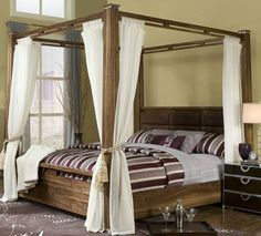 Canopy Solid Hardwood Bed King Size for by SolidCherryHeirlooms, $967.00