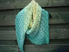 Pretty version of the South Bay Shawl - free pattern: http://www.lionbrand.com/patterns/90489AD.html