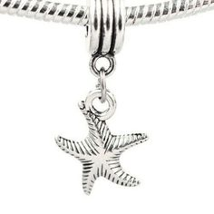 New Silver Bead Charm Lovely Starfish With full Crystal pendant Beads Fit Women Pandora Diy Bracelet & Bangle Jewelry YW15597