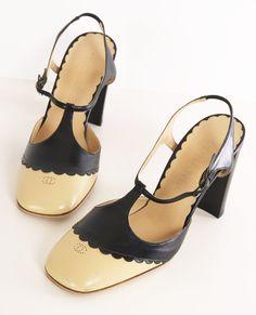 chanel t strap heels