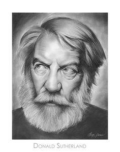 Donald Sutherland by gregchapin on deviantART ~ artist Greg Joens
