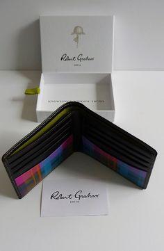 """Robert Graham Men's NIB """"Harry"""" Brown Leather Slim Bifold Wallet Nordstrom $128 #RobertGraham #Bifold"""