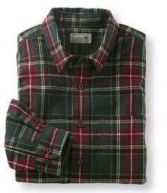 Bean Scotch Plaid Flannel Shirt: Flannel, Chamois and Lined Cool Shirts For Men, Picnic Outfits, Bleach Tie Dye, Scottish Plaid, Casual Wear For Men, Mens Attire, Plaid Flannel, Flannel Shirts, Check Shirt