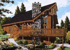 Rustic Chalet - 99919MW | Contemporary, Mountain, Vacation, Narrow Lot, 2nd Floor Master Suite, Drive Under Garage, PDF, Wrap Around Porch, Sloping Lot | Architectural Designs
