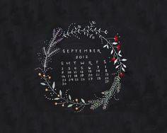 Dear Friend: September Desktop Calendar