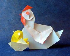 Chicken and Chick in egg by Taichiro Hasegawa
