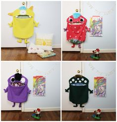hello, Wonderful - ADORABLE MONSTER TOY BAGS FROM LU & ED