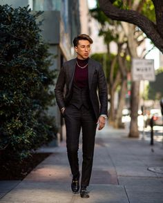 """Blake Scott Silva on Instagram: """"A well tailored suit will never go out of style -in my opinion. You can opt for slimmer or a more relaxed fit, just make sure it's your…"""" Smart Casual, Summer Outfits Men, Classy Men, Men's Suits, Sharp Dressed Man, Hot Guys, Hot Men, Out Of Style, Men Dress"""