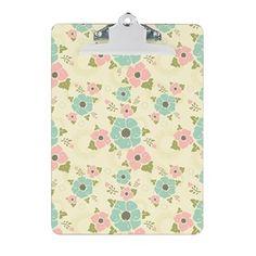 "Nostalgic flowers Clipboard Beige seamless vintage pattern ""Nostalgic flowers""  $24.69"