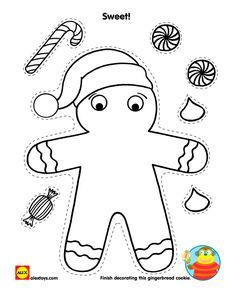 Free Gingerbread Coloring Pages To Kids Cartoon Coloring Pages